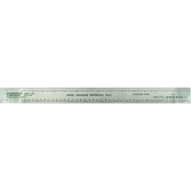 12in Scale Model Railroad Ruler