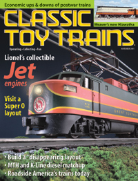 Classic Toy Trains November 2001