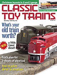 Classic Toy Trains December 2001