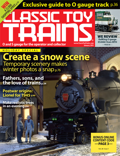 Classic Toy Trains January 2015