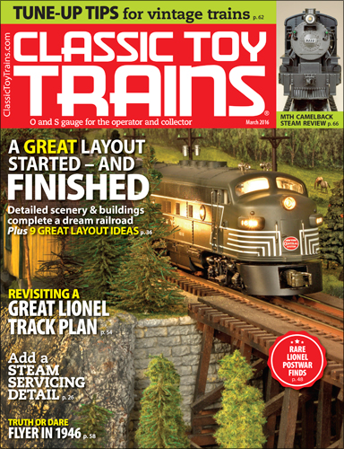 Classic Toy Trains March 2016