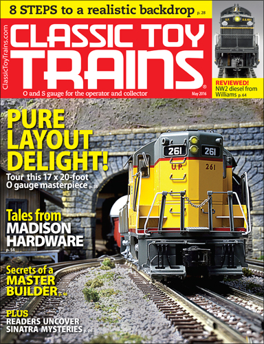 Classic Toy Trains May 2016