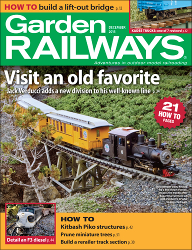 Garden Railways December 2015
