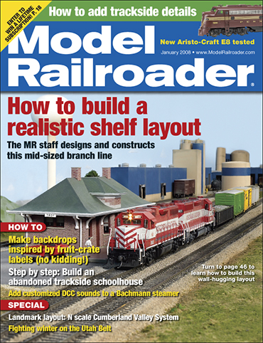Model Railroader January 2008