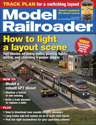 Model Railroader June 2009