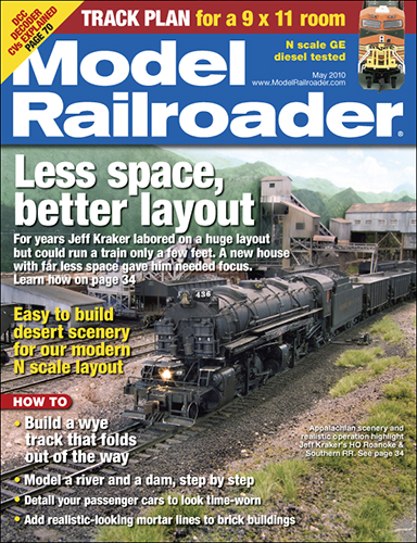 Model Railroader May 2010