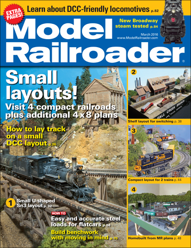Model Railroader March 2016