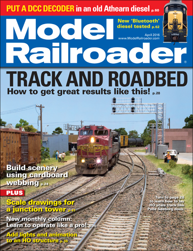 Model Railroader April 2016
