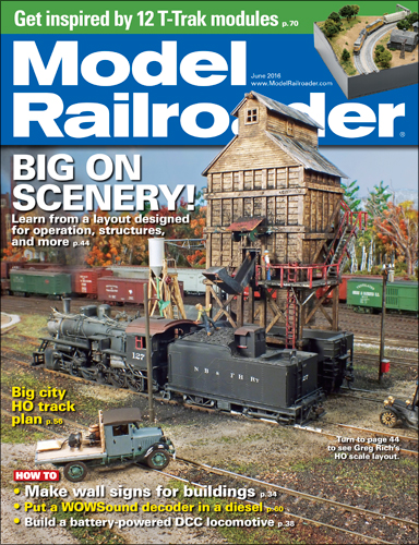 Model Railroader June 2016