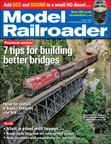 Model Railroader Aug 2016