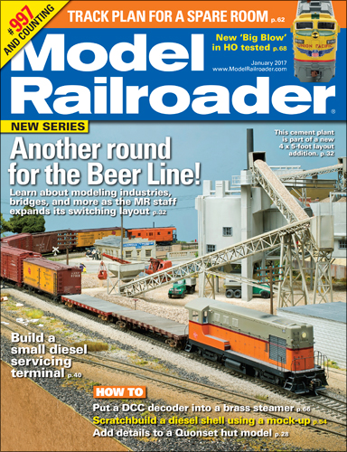 Model Railroader January 2017