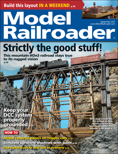 Model Railroader September 2017