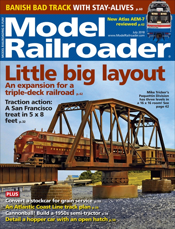 Model Railroader July 2018