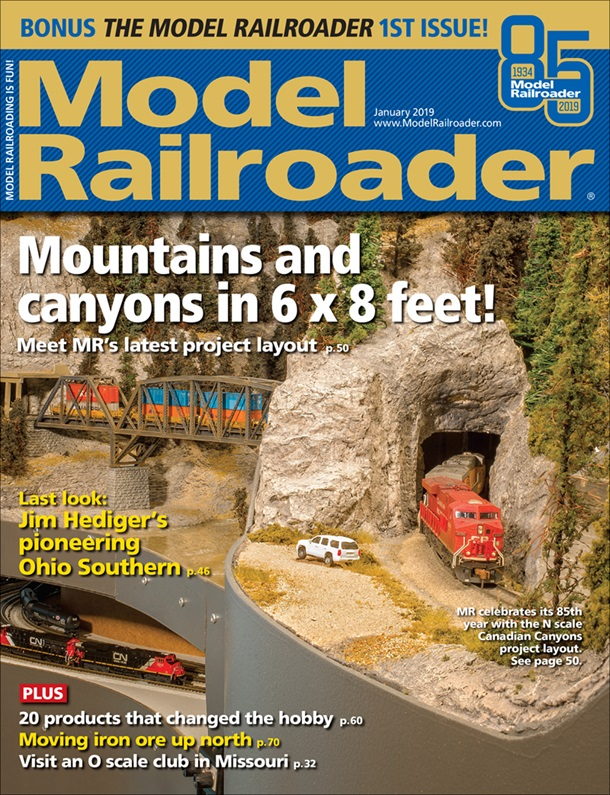 Model Railroader January 2019