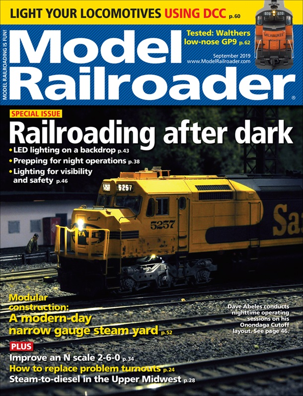 Model Railroader September 2019