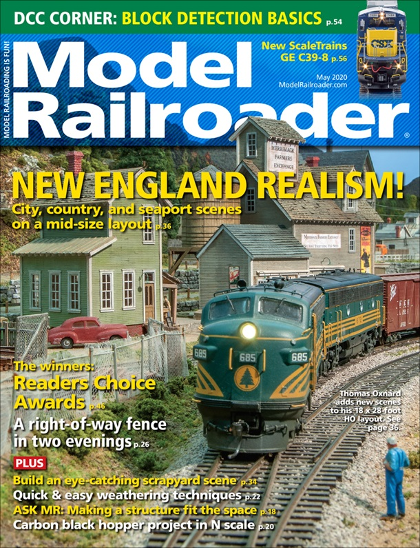 Model Railroader May 2020