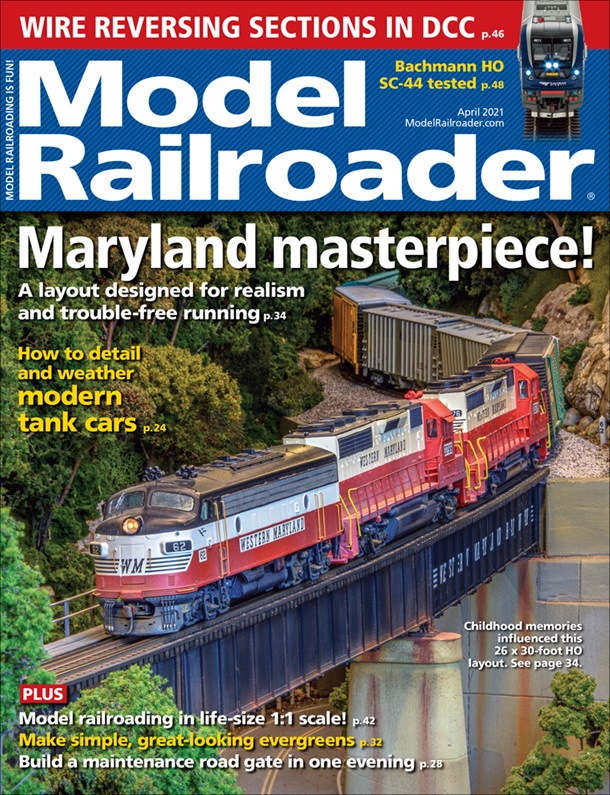 Model Railroader April 2021