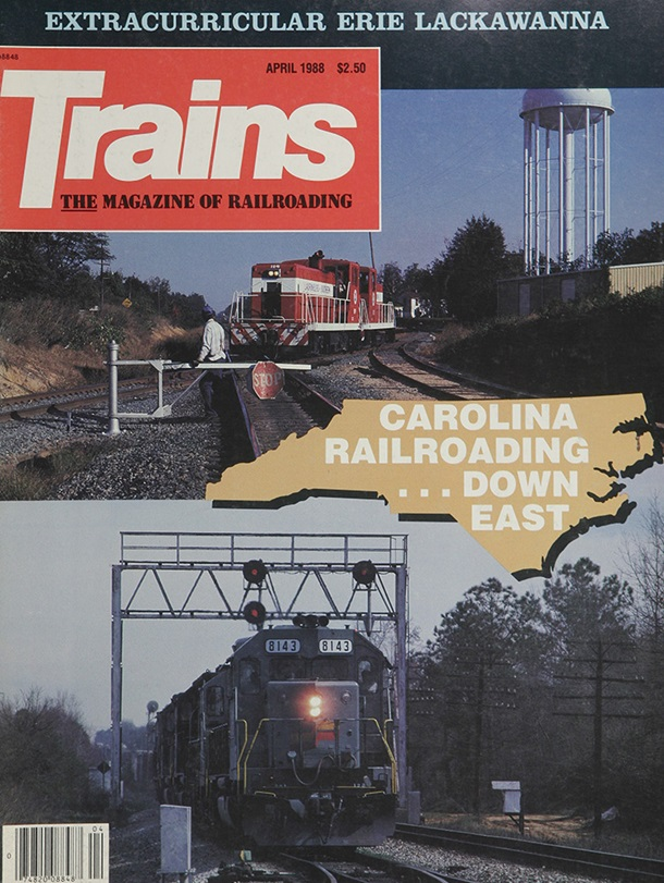 TRAINS April 1988
