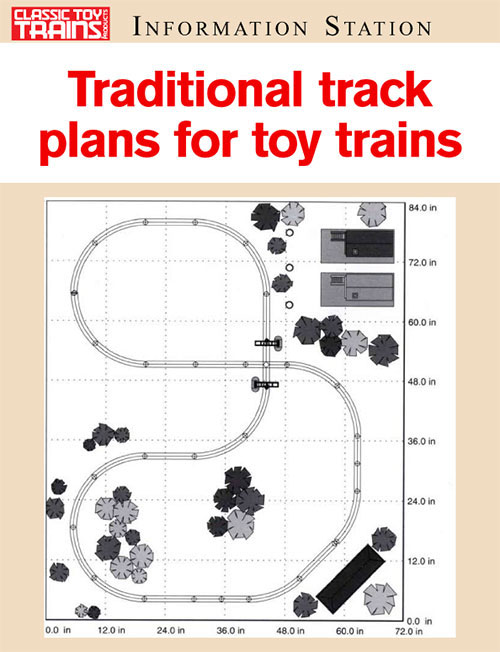 Traditional track plans for toy trains