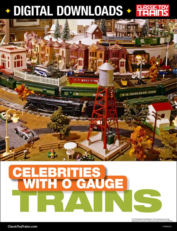 Celebrities with O Gauge Trains