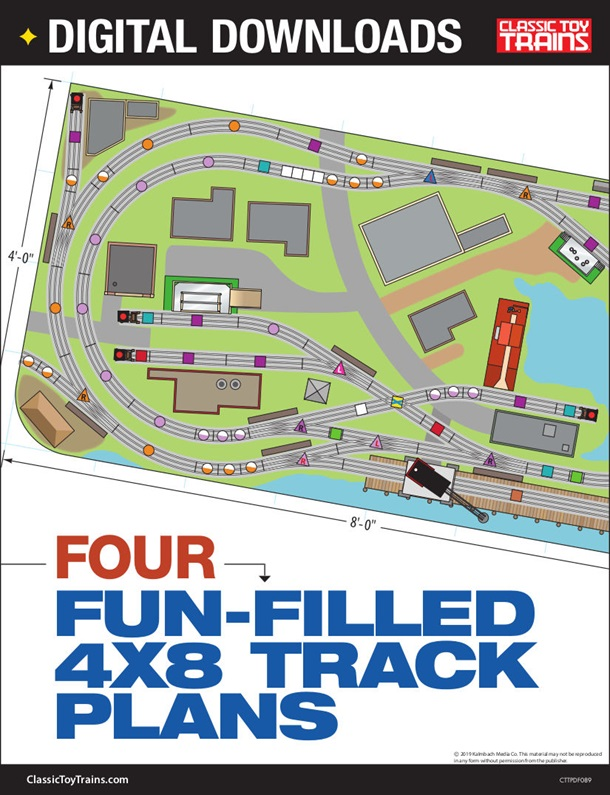 Four fun-filled 4x8 track plans