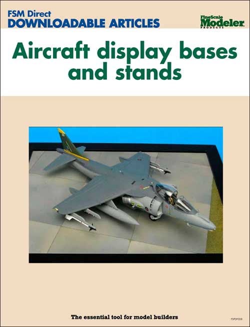Aircraft display bases and stands