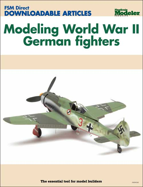 Modeling World War II German fighters