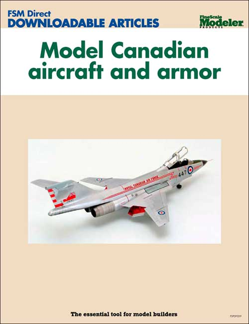 Model Canadian aircraft and armor