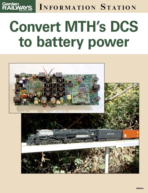 Convert MTH's DCS to onboard battery power