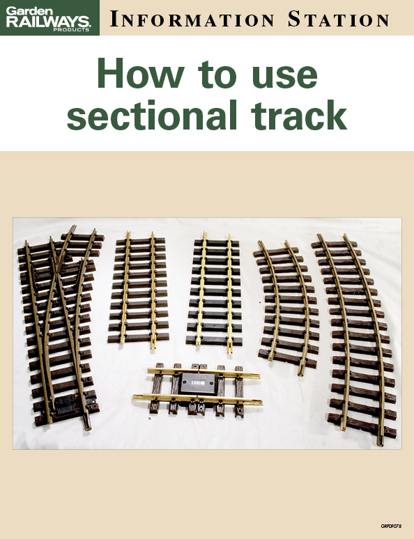 How to use sectional track