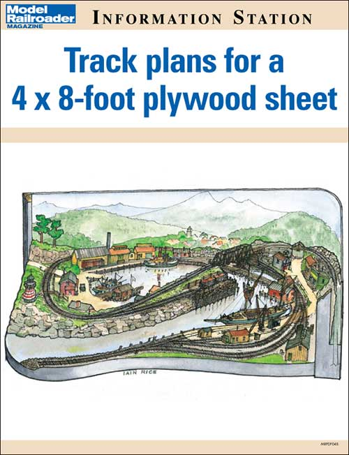 Track plans for a 4x8-foot plywood sheet