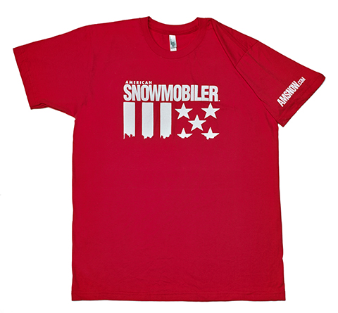 American Snowmobiler Red Stars & Stripes T-shirt