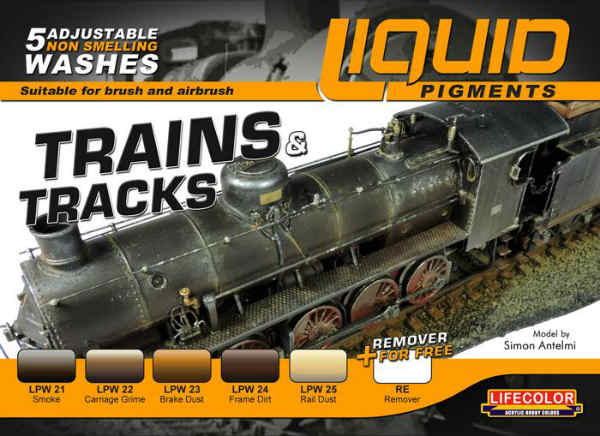 Trains & Tracks Paint Set