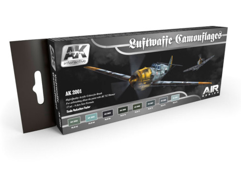 AK Interactive Luftwaffe Camouflages (Air Series) Paint Set