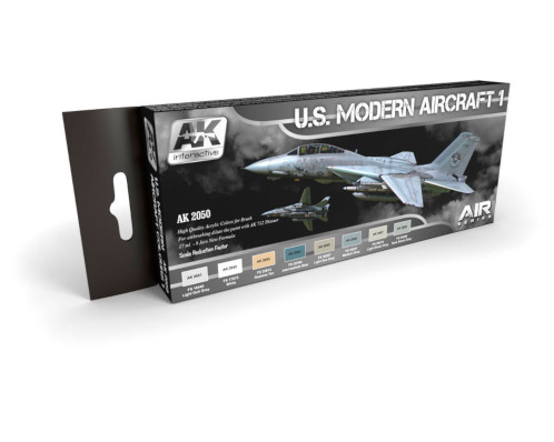 AK Interactive U.S. Modern Aircraft 1 Paint Set