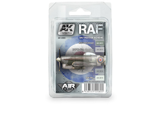 AK Interactive RAF Day Fighter Scheme Paint Set