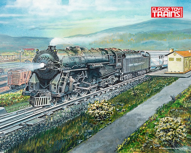 No. 773 O Gauge Hudson Print by Robert Sherman