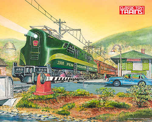 GG1 at Lionelville Station Print by Robert Sherman
