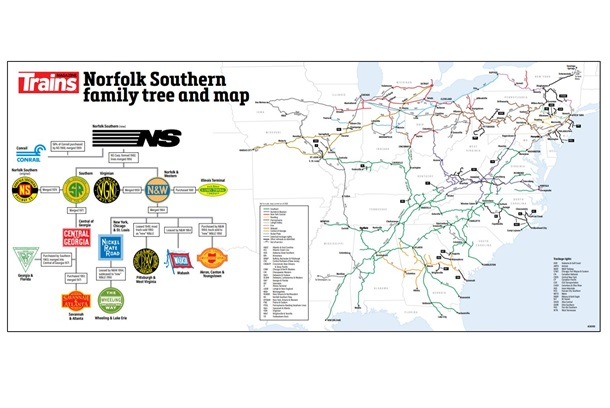Norfolk Southern Railroad Map And Family Tree Poster