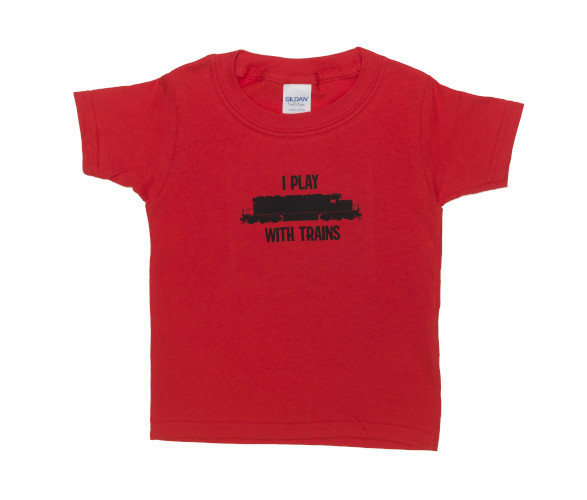 Kids' Plays with Trains Tee - 2T-4T