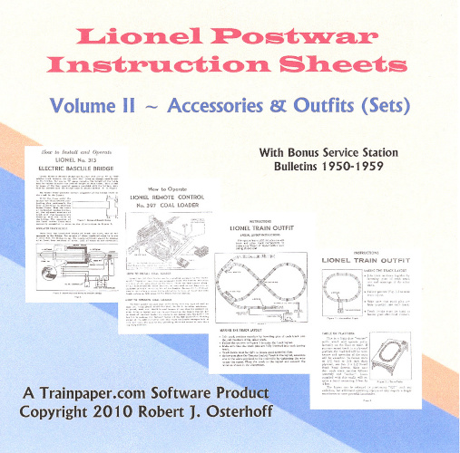 Lionel Postwar Instruction Sheets Volume II - Accessories & Outfits DVD