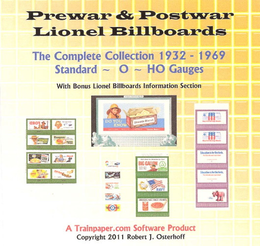Prewar & Postwar Lionel Billboards - The Complete Collection 1932-1969 Standard/O/HO Gauges DVD