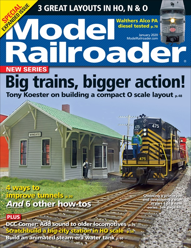 Model Railroader January 2020