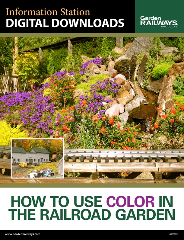 How to use color in the railroad garden