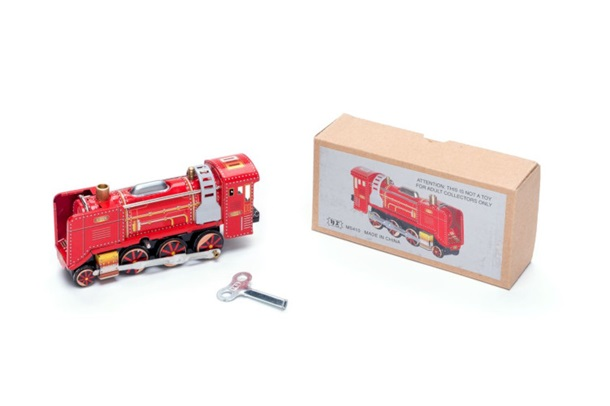 Classic 1908 Red Train Tin Toy