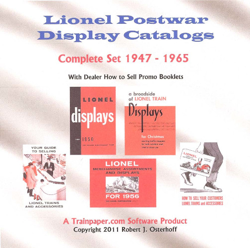Lionel Postwar Dealer Display Catalogs: Complete Set 1947-1965 DVD